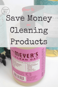 Saving Money on Natural Cleaning Products