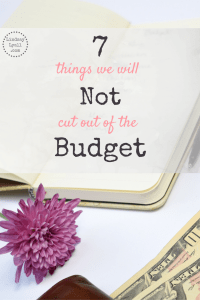 7 Things we will not Cut out of the Budget