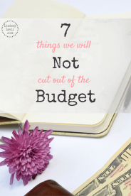 There are some things we are not willing to cut out of our budget even when we are saving money or paying off debt. Click to read more