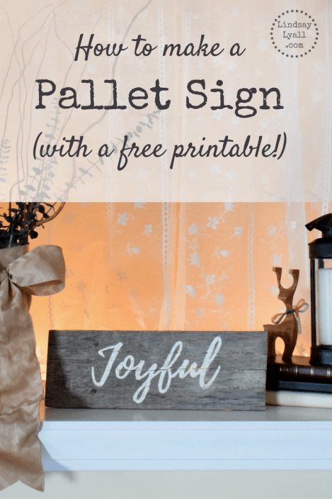 Learn how to make a pallet sign the easy way in under an hour. Click the picture to get the step-by-step instructions as well as a free printable template for the sign I made.