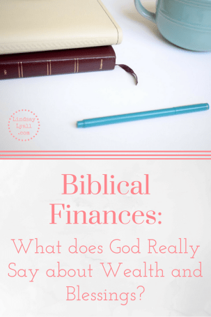 Interpreting what God says about wealth and blessings can be difficult. There are many opinions about Biblical finances, but what does the Bible actually say? Let's take a look at some scriptures to interpret what biblical blessings and wealth really look like. Spoiler alert: wealth is not a bad thing. Click the link to read the rest of the principles for biblical money management.