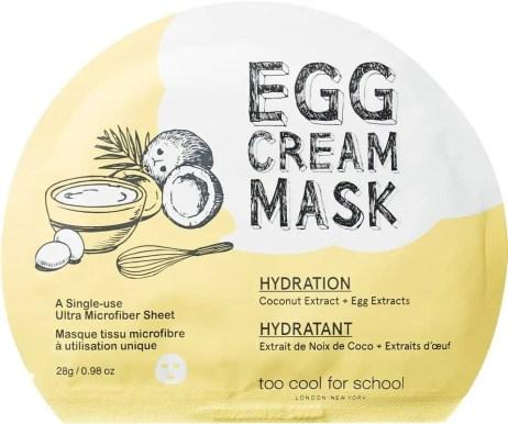 egg cream mask
