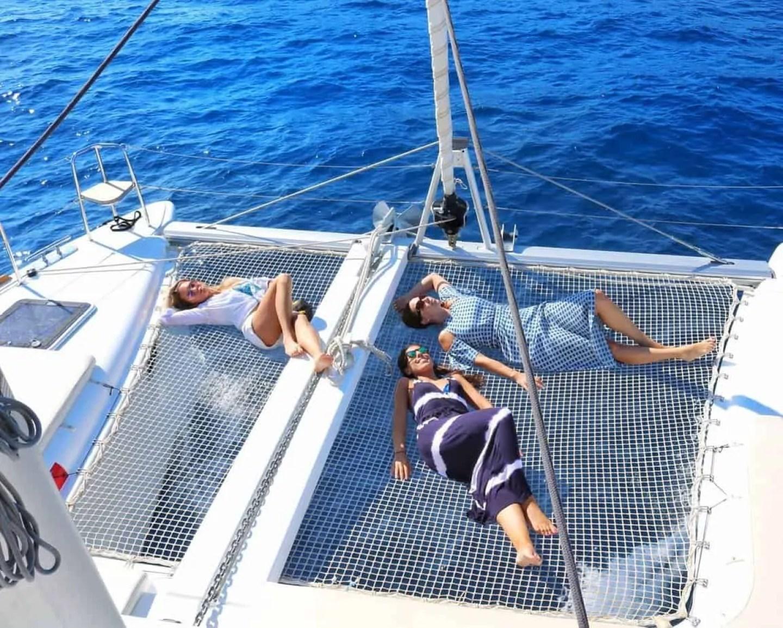 island hopping boat charter santorini