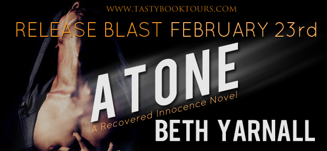 Release Day Giveaway ~ Atone by @BethYarnall from @TastyBookTours