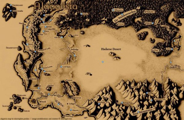 Map of Alagaesia (Eragon)