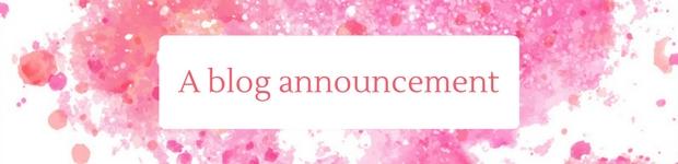 A Blog Announcement