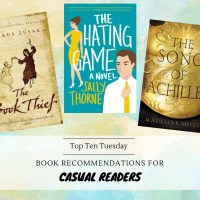 Book Recommendations For Casual Readers {Top Ten Tuesday}