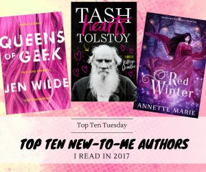 180102 TTT Top Ten New-To-Me Authors Read In 2017