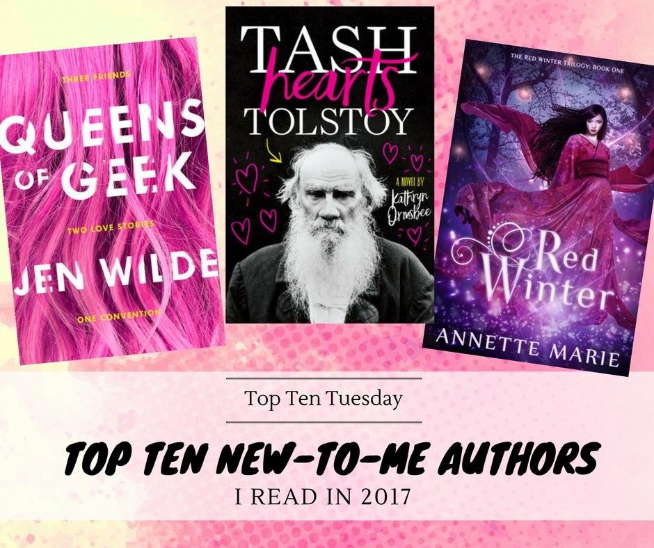 180102 TTT Top Ten New-To-Me Authors Read In 2017