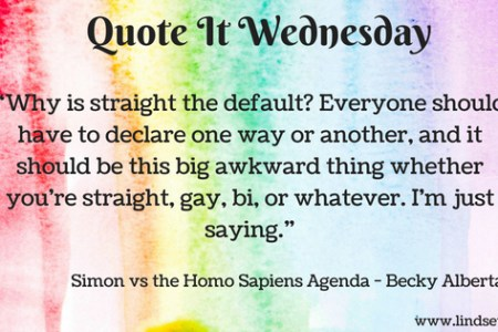 Quote It Wednesday - Simon vs the Homo Sapiens Agenda