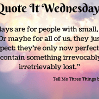 Tell Me Three Things by Julie Buxbaum {Quote It Wednesday}