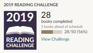 Goodreads reading challenge 2019