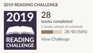 Goodreads reading challenge 2019