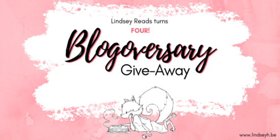 Blogoversary 4 Give-away Twitter Graphic