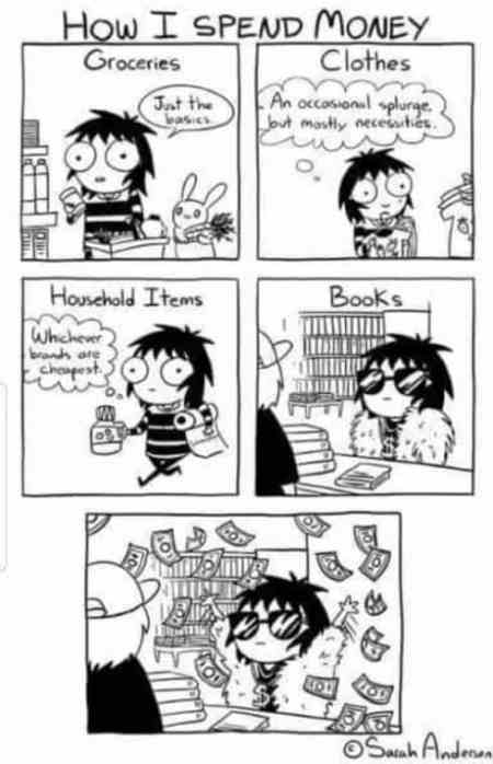 Ten Signs you're a book lover