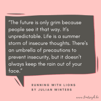 Running With Lions by Julian Winters {Quote It Wednesday}