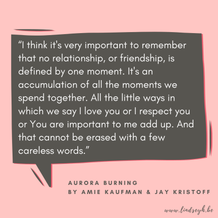 Aurora Burning by Amie Kaufman and Jay Kristoff