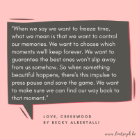 Love, Creekwood by Becky Albertalli {Quote It Wednesday}