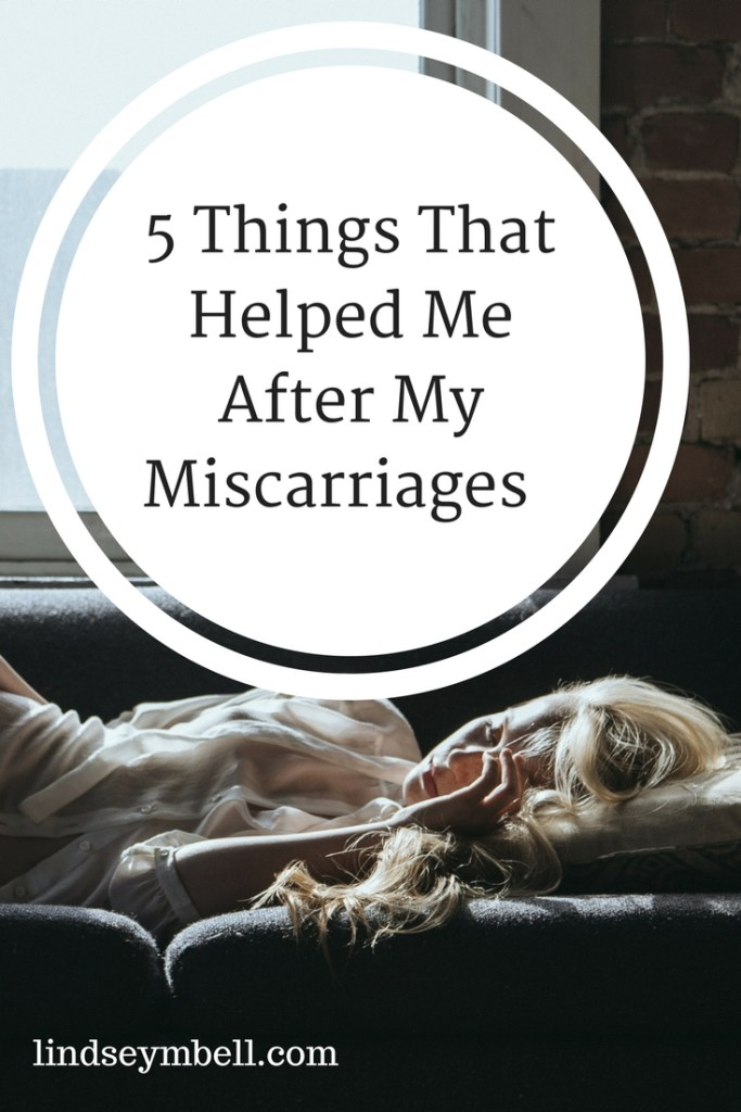 5 things that can help after a miscarriage