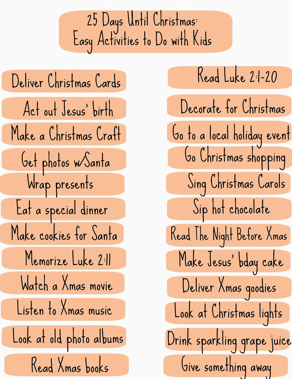 25 Days Until Christmas An Easy Way To Celebrate With