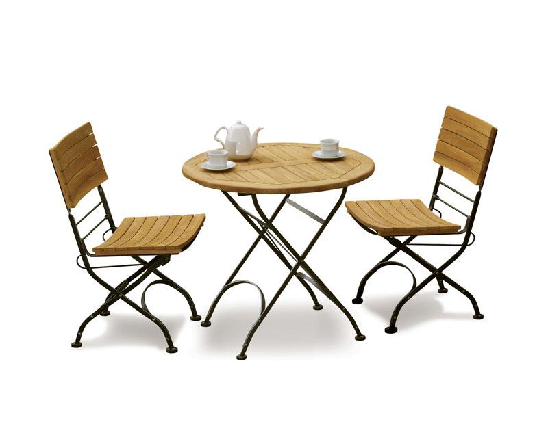 teak garden 2 seater bistro set