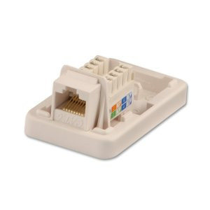 CAT6 Single Wall Mount Box UTP, RJ45, T568AT568B  from