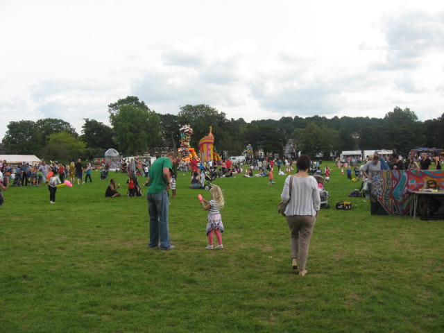 Crowd of people at the Swindon Summer Fete