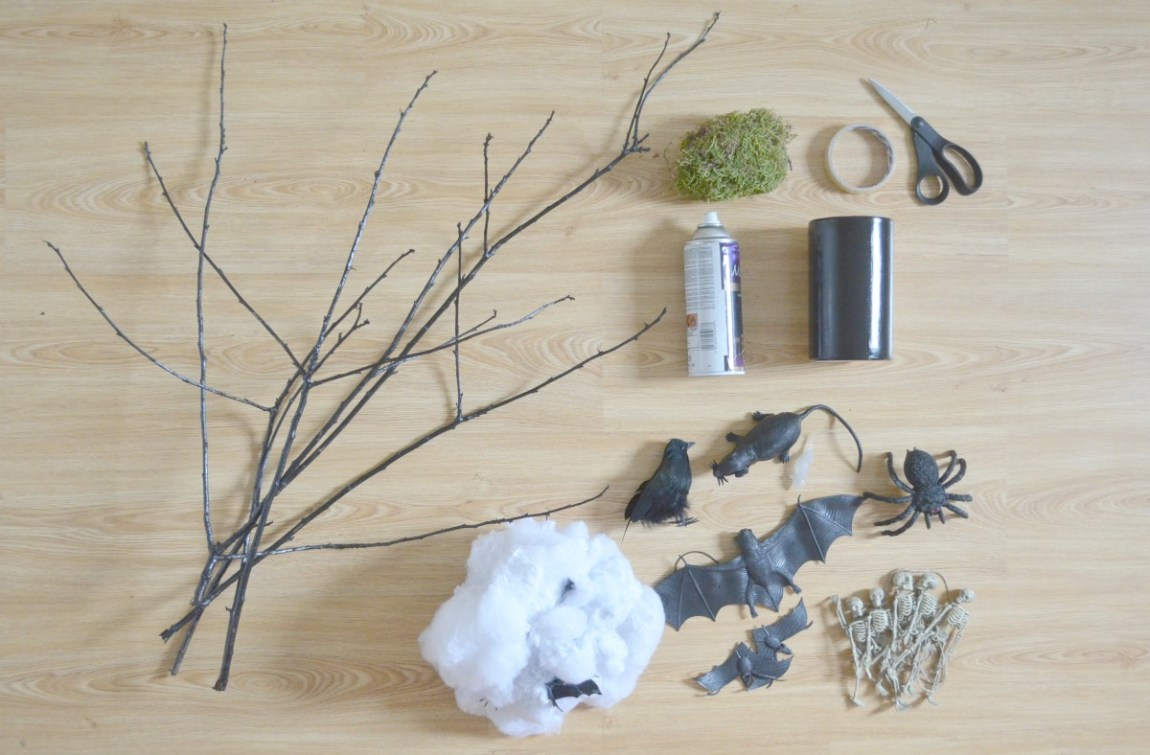 DIY Halloween Tree Materials