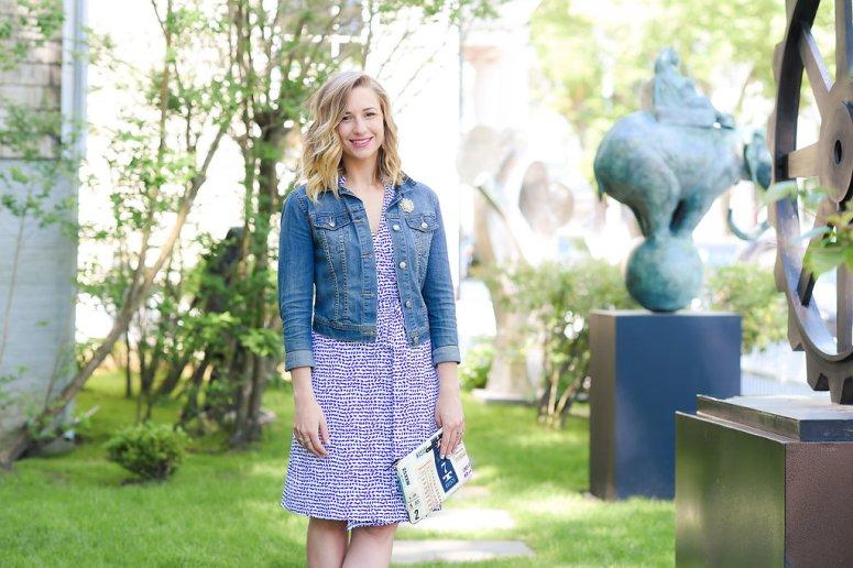 Blue and white Ellie Kai dress