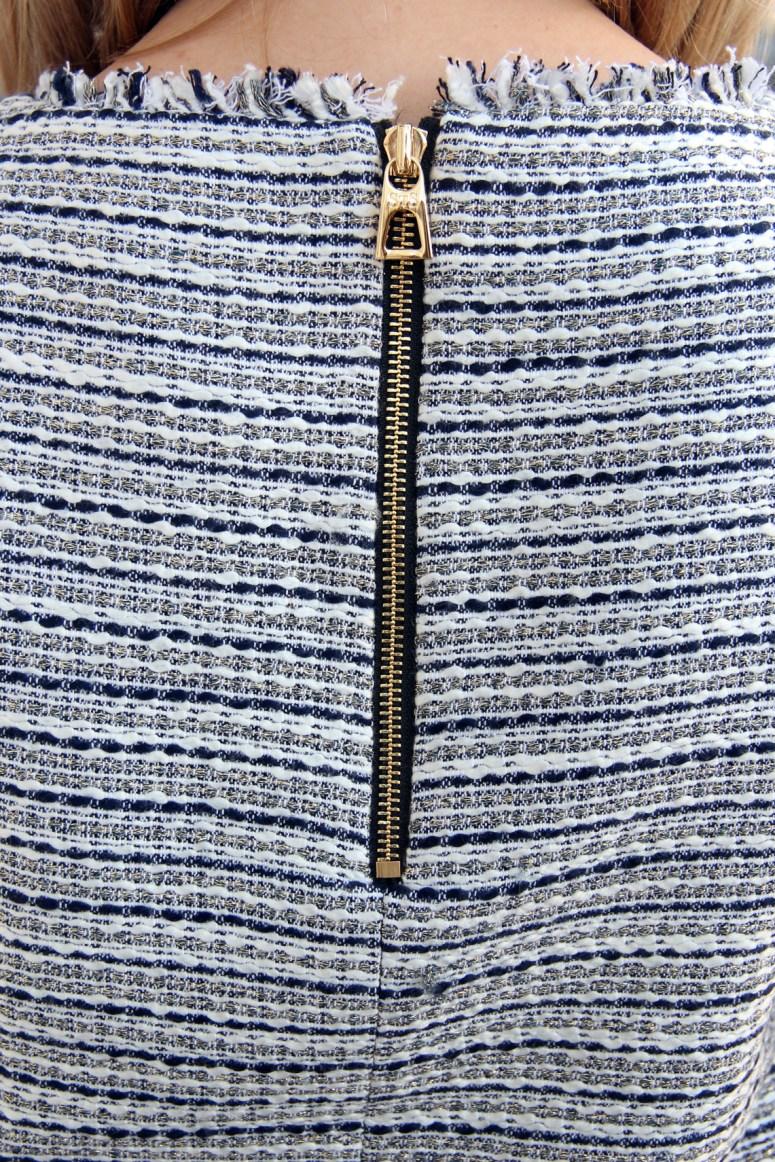 LL Tweed zipper detail