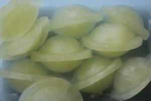 Cubos de sumo de limão congelados