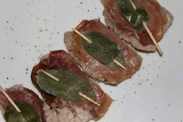 Escalopes de veau, jambon de parme et sauge