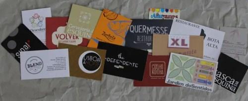 cartes de restaurants de Lisbonne