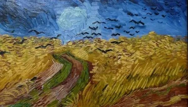Korenveld met kraaien (detail), Vincent van Gogh (1890)