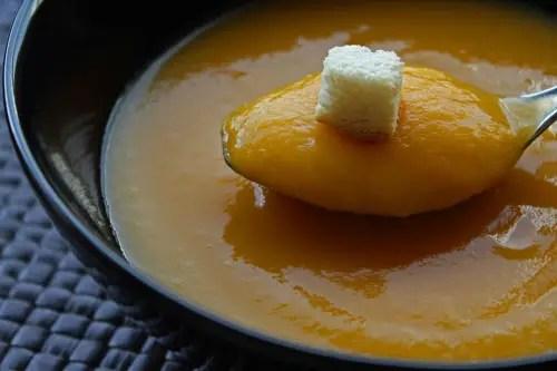 Soupe de patates douces et potiron