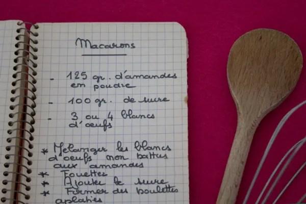 Recette des minis macarons