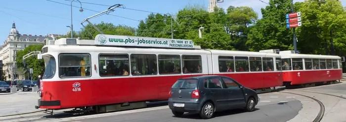 Tramway à Vienne