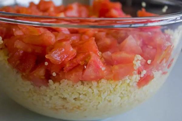 Tomates et boulgour