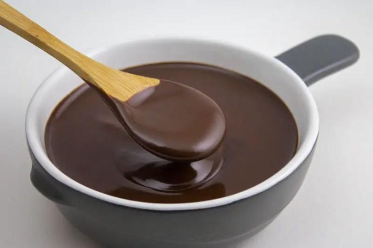 Chocolat de couverture fondu