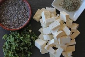 Ingrédients pour boulettes de chou, soja, lupin