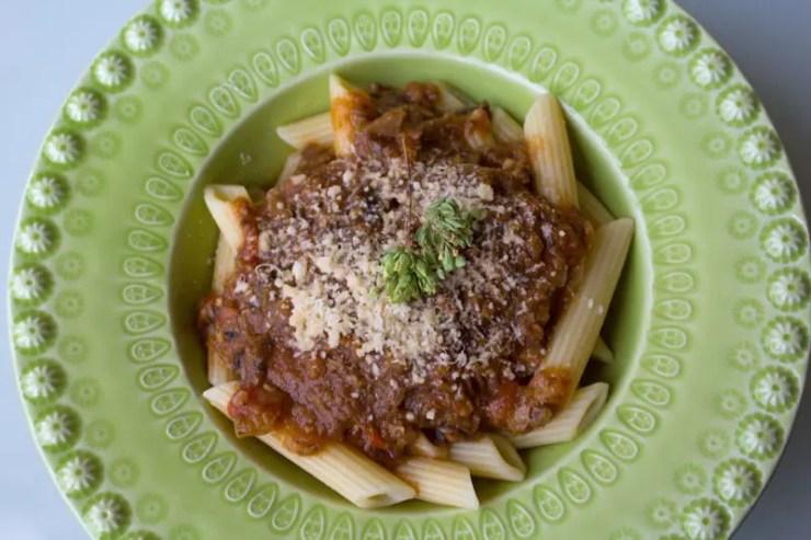 Ragù vegetariano bolognese