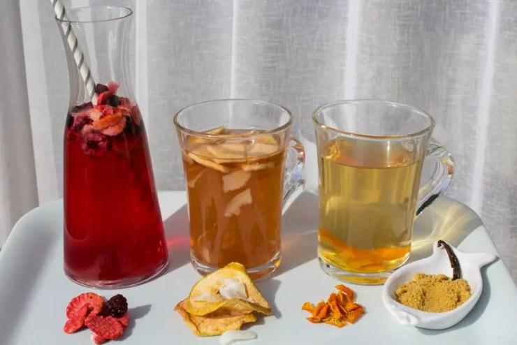 infusions froides et chaude aux fruits déshydratés