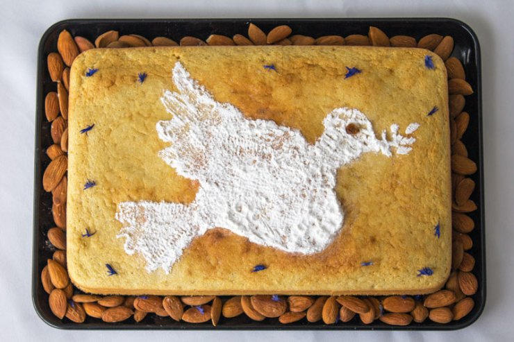Gâteau aux amandes, zestes d'orange et fleur d'oranger