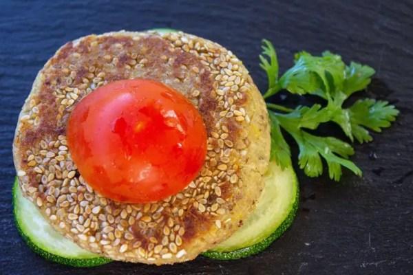 Galette quinoa et pois chiche au sésame