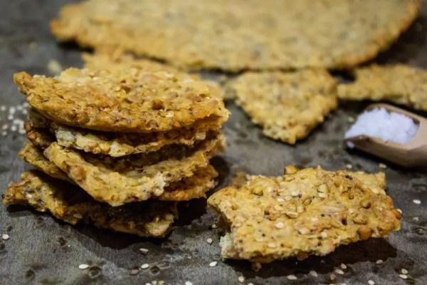 Crackers à la farine d'épeautre et aux graines