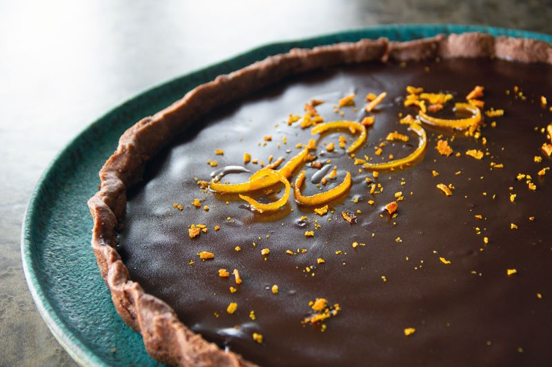 Tarte gourmande au chocolat et à l'oarnge
