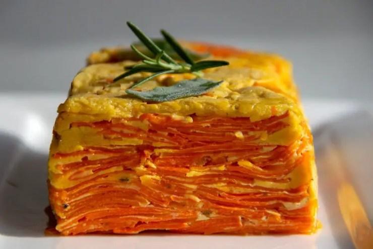 Flan invisible à la courge et patate douce
