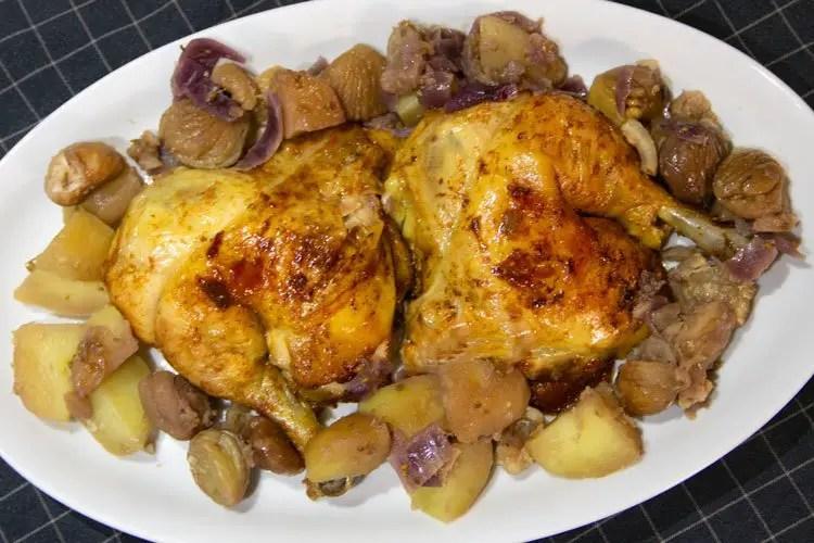 Cuisses de poulet rôti maison aux petits légumes