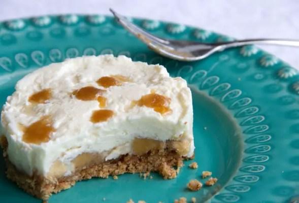 Part de cheesecake Banoffee en dégustation
