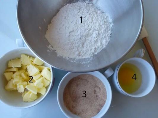 4 ingrédients pour les biscuits de Kiko